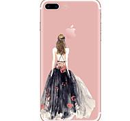 Für Hüllen Cover Transparent Muster Rückseitenabdeckung Hülle Sexy Lady Weich TPU für AppleiPhone 7 plus iPhone 7 iPhone 6s Plus iPhone 6