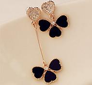 Drop Earrings New  Mismatching Asymmetry Earrings  Fashion Clover  Drop Earring For Women Movie Gift Jewelry
