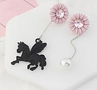 Drop Earrings New Mismatching Asymmetry Earrings Personalized Pegasus Daisy Earring For Women Daily Party Gift Movie  Jewelry