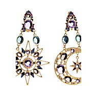 Drop Earrings New Mismatching Asymmetry  Popular Brand New High-Endsun Moon Star Jewelry Earrings For Women Daily Party Gift Movie Jewelry