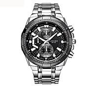 Men's Dress Watch Fashion Watch Quartz Stainless Steel Band Silver