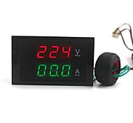 цифровой двойной дисплей переменного тока вольтметр амперметр (100 ~ 300v / 0 ~ 100а)