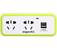 lengon XD-Q302U AU Plug Phone USB Charger Power Strips  3 Outlets 2 USB Ports 10A AC 100V-250V