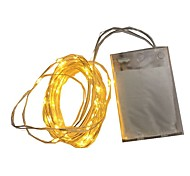 4.5V 5M 50Led 3 AA Battery Powered Decorative LED Silver Wire Fairy String Lights for Christmas Holiday Wedding and Parties