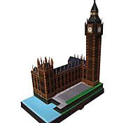 Rompecabezas Kit de Bricolaje Puzzles 3D Bloques de construcción Juguetes de bricolaje Edificio Famoso Reloj Arquitectura
