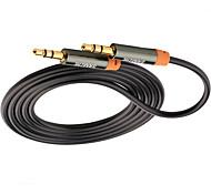 3,5 milímetros de áudio Jack Cabo, 3,5 milímetros de áudio Jack to 3,5 milímetros de áudio Jack Cabo Macho-Macho Cobre banhado a ouro1.0m