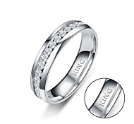 European and American jewelry trade inside and outside the arc point full week drill drill punctuate the stainless steel ring
