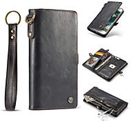 Назначение iPhone 8 iPhone 8 Plus Чехлы панели Кошелек Бумажник для карт Флип Чехол Кейс для Сплошной цвет Твердый Натуральная кожа для