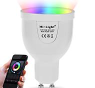 5W Умная LED лампа A60(A19) 12 SMD 5730 500 lm Тёплый белый RGB Двойной цвет источника светаИнфракрасный датчик На пульте управления WiFi