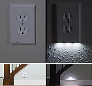 1Pcs Plug Cover LED Night Angel Wall Outlet Face Hallway Bathroom Light AC 110V
