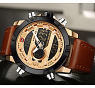 NAVIFORCE Муж. Спортивные часы Нарядные часы Модные часы Кварцевый ЦифровойLCD Календарь Защита от влаги С двумя часовыми поясами