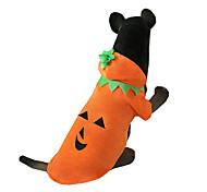 Собака Костюмы Одежда для собак Хэллоуин Тыква Оранжевый