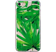 Случай для яблока iphone 7 7 плюс крышка случая зеленая картина листьев tpu материал imd корабль случай мобильного телефона для iphone 6