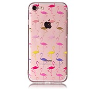 Чехол для iphone 7 плюс 7 чехол для телефона лакировка процесс фламинго модель tpu материал телефон чехол iphone 6s плюс 6s 6 5s 5 se