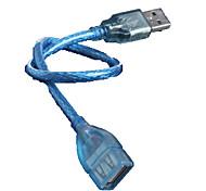 USB мужчина автобус / кристалл USB удлинитель кабеля 30 см