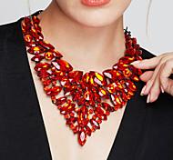 Жен. Заявление ожерелья Длинные ожерелья Бижутерия Драгоценный камень Хрусталь Мода европейский Pоскошные ювелирные изделия Массивные