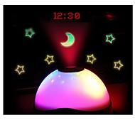 изменение цвета звездное небо ночное освещение привело волшебство цифровая проекция звездное время будильника