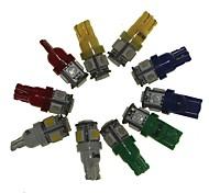 Sencart t10 ba9s лампа накаливания индикаторов автомобиля 10pcs светлая (белая красная желтая голубая зеленая 2pcs) dc12v