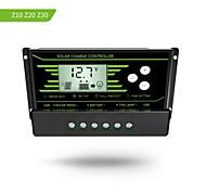 Pwm 30a солнечный контроллер заряда 12v 24v авто с подсветкой ЖК-дисплей двойной USB 5v солнечный регулятор зарядное устройство z30