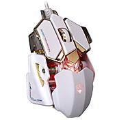 Игровая мышь 4000 точек на дюйм алюминиевая основа 10 кнопок светодиодные профессиональные программируемые usb проводные игровые мыши для