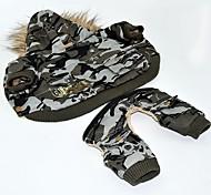 Собака Костюмы Одежда для собак Косплей Американский / США Камуфляж цвета