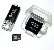 Карта памяти microsdhc tf 32gb с USB-кард-ридером и адаптером sdhc sd