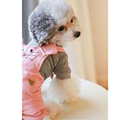 Собака Комбинезоны Одежда для собак На каждый день Английский Оранжевый Розовый