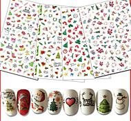 10 Стикер искусства ногтя 3-D Рождество Компоненты для самостоятельного изготовления Стикер макияж Косметические Ногтевой дизайн