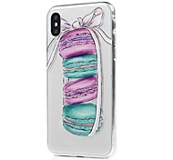 Назначение iPhone X iPhone 8 iPhone 8 Plus Чехлы панели Ультратонкий Прозрачный С узором Задняя крышка Кейс для Продукты питания Мягкий