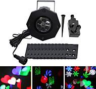 ywxlight® ip65 eu us uk plug водонепроницаемый 6w снежинка рождественский проектор свет для домашнего сада пейзаж наружное освещение