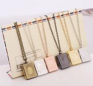 Муж. Жен. Кулоны Бижутерия Медальон В форме квадрата Серебрянное покрытие Multi-Wear способы Ручная работа Бижутерия Назначение На каждый