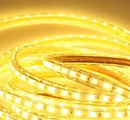 6м 220v Higt яркие светодиодные полосы света гибкие 5050 360smd три кристаллические водонепроницаемый свет бар света сада с штепсельной