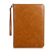 Назначение iPad (2017) Чехлы панели Бумажник для карт со стендом Флип Магнитный Авто Режим сна / Пробуждение Чехол Кейс для Сплошной цвет