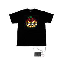 ljud och musik aktiveras spektrum VU-meter el visualizer t-shirt (2 * aaa)