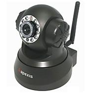 apexis® câmera de vigilância IP sem fio com alerta de e-mail (detecção de movimento, visão noturna, preto)