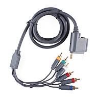 vídeo premium componente e cabo av audio para Xbox 360 (1,84 centímetros de cabo)
