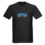 ääni ja musiikki aktivoitu spektri VU-mittari el Visualizer johti t-paita (2 * AAA)