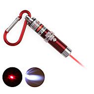 2 in 1 punainen laser LED-avaimenperä - punainen