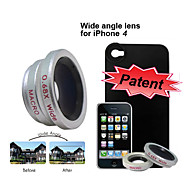 0.68X Wide Angle Lens with Macro for Apple iPhone 4 - iPhone Back Case Included