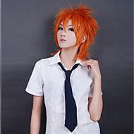 Peruki Cosplay Cosplay Cosplay Oranžová Short Anime Peruki Cosplay 35 CM Włókno termoodporne Męskie