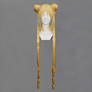 Peruki Cosplay Sailor Moon Sailor Moon Złoty Długa Anime Peruki Cosplay 100 CM Włókno termoodporne Damskie