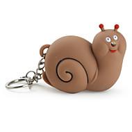 Porte-clés Escargot Dessin Animé Eclairage LED / Son Marron ABS