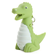 dinosaurus klíčenka s LED svítilnou a zvukových efektů (zelená)