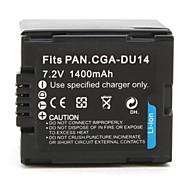 digitalt videokamera batteri for Panasonic NV-GS10 (7.2V, 1400mah)
