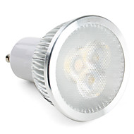 6W GU10 Focos LED MR16 3 LED de Alta Potencia 310 lm Blanco Natural Regulable AC 100-240 V
