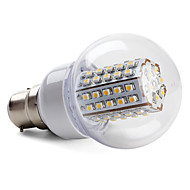 5W B22 / E26/E27 LED Globe Bulbs 66 SMD 3528 430 lm Warm White / Natural White AC 220-240 V
