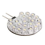 g4 21-LED 0.6W lâmpada 126lm branco quente para carro (12V DC)