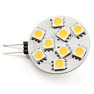 G4 2.5 W 9 SMD 5050 100 LM Warm White Spot Lights DC 12 V