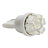T5 3528 SMD 0.36W 12V 36LM 9-LED White Light Car Bulb (10pcs)