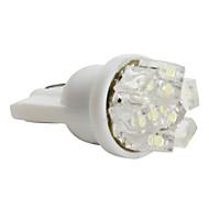 T5 3528 smd 0.36w 12v 36lm 9-LED valkoinen valo auton lamppu (10kpl)